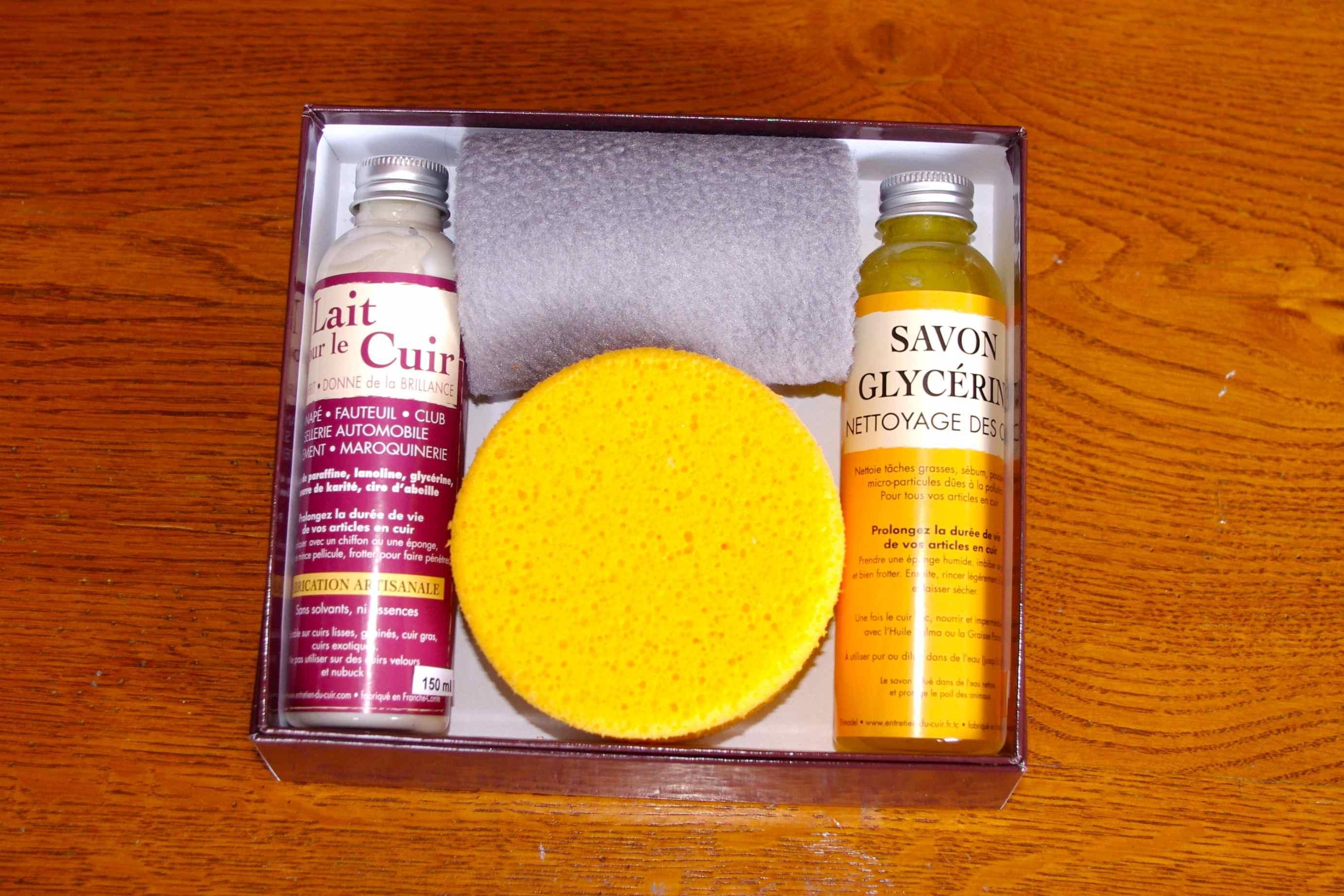 Entretien Du Cuir D Ameublement coffret carton n°1 - coffrets - pour le cuir vêtement, cuir